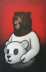 Luke Chueh Bear in Mind Original Painting