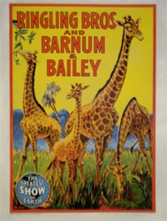 Original Circus Poster Ringling Brothers, Barnum and Bailey