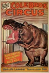 Original Circus Poster Cole Brothers