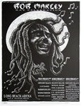 Emek Bob Marley Black and White Original Rock Concert Poster