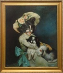 Ron English Peter and Pooch Original Oil On Canvas
