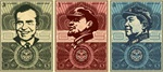 Shepard Fairey Money Set Nixon/ Lenin/ Mao Fine Art Print Set