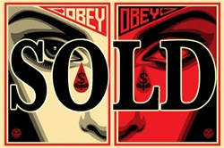Shepard Fairey Eye Alert 2 Fine Art Print Set
