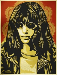 Shepard Fairey Joey Ramone Red Fine Art Print