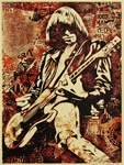 Shepard Fairey Johnny Ramone Fine Art Print