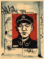 Shepard Fairey Chinese San Francisco Fine Art Print Original Silkscreen