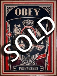 "Shepard Fairey ""Lions Obey"" on Wood"