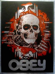 Shepard Fairey Bones Ripper Print on Metal
