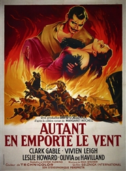 Original French Movie Poster Gone With the Wind