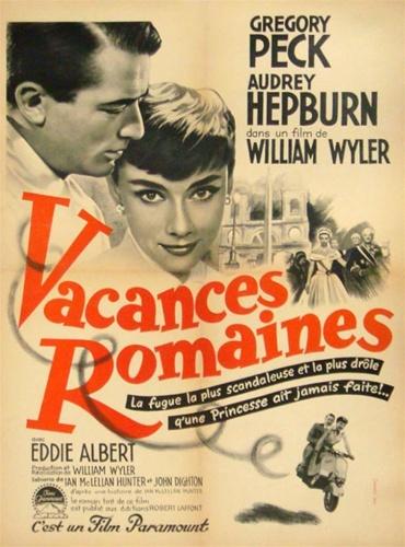 Original French Movie Poster Roman Holiday Vintage Movie ...