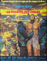 Original French Movie Poster Planet of the Apes