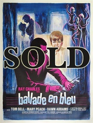 French Movie Poster Ballad In Blue