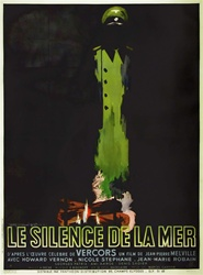 Original French Movie Poster Silence Of The Sea