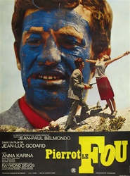 Original French Movie Poster Pierrot Le Fou
