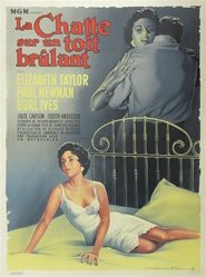 Original French Movie Poster Cat On A Hot Tin Roof