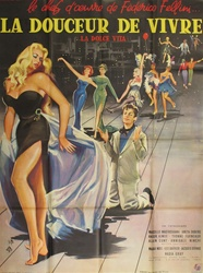 Original French Movie Poster La Dolce Vita