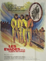 Original French Movie Poster Escape From The Planet Of The Apes