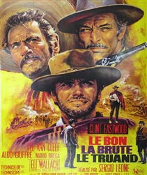 French Movie Poster The Good, Bad And The Ugly