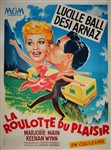 Original French Movie Poster The  Long Long Trailer