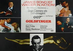 Goldfinger Original German Movie Poster