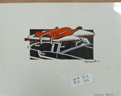 Rick Griffin Ironing Boards Original Drawing