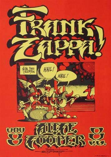 Frank Zappa and Alice Cooper Original Concert Poster ...