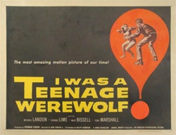 I Was a Teenage Werewolf Original US Half Sheet