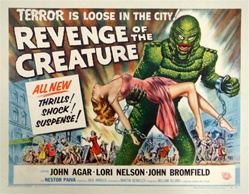 Revenge of the Creature Original US Half Sheet