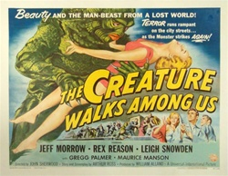 The Creature Walks Among Us Original US Half Sheet