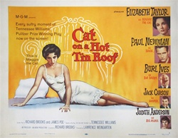 Cat on a Hot Tin Roof Original US Half Sheet