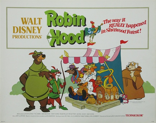 Robin Hood Original Us Half Sheet Vintage Movie Poster Disney