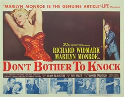Don't Bother To Knock Original US Half Sheet