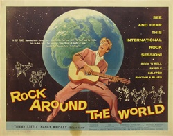 Rock Around the World Original US Half Sheet