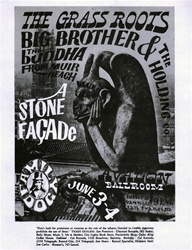 FD11 The Stone Facade: Big Brother and the Holding Company Original Concert Handbill