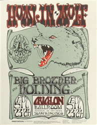 FD 27 Howlin Wolf: Big Brother and the Holding Company Original Concert Handbill
