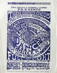 Big Brother And The Holding Company And Quicksilver Messenger Service At Monterey Fairgrounds Original Handbill