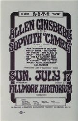 Allen Ginsberg And Sopwith Camel Original Concert Handbill
