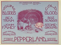 Youngbloods And Boz Scaggs Original Concert Handbill