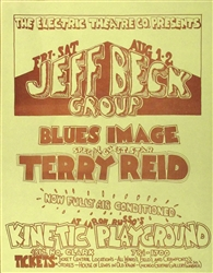 The Jeff Beck Group And Terry Reid Original Concert Handbill