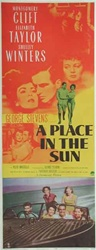 A Place in the Sun Original US Insert