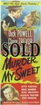 Murder My Sweet Original US Insert