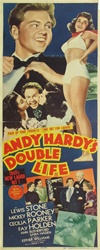 Andy Hardy's Double Life Original US Insert
