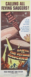 Earth Vs. The Flying Saucers Original US Insert