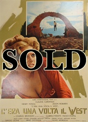 Once Upon A Time In The West Italian Double Photobusta