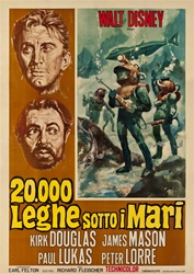 20,0000 Leagues Under The Sea Italian 4 Sheet