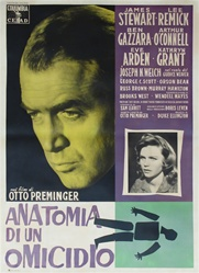 Anatomy Of A Murder Italian 4 Sheet