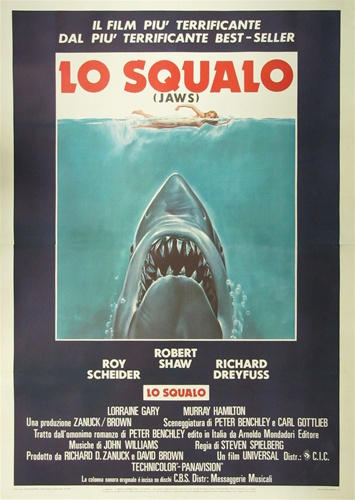 Jaws Original Italian 4 sheet Vintage Movie Poster Spielberg