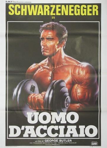 Pumping Iron Original Italian 2 Sheet Vintage Movie Poster Arnold Schwarzenegger