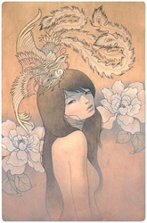 Audrey Kawasaki Her Secret Bird Print