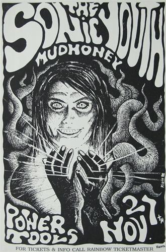 Frank kozik sonic youth original concert poster